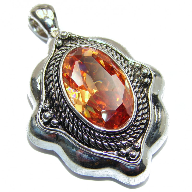 Himalayan Treasure Golden Topaz .925 Sterling Silver Pendant