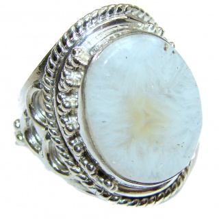 Top Quality Agate .925 Sterling Silver hancrafted Ring s. 9 1/4