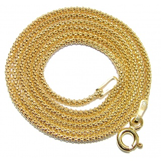 Coreana 18K Gold over .925 Sterling Silver Chain 18'' long, 2 mm wide