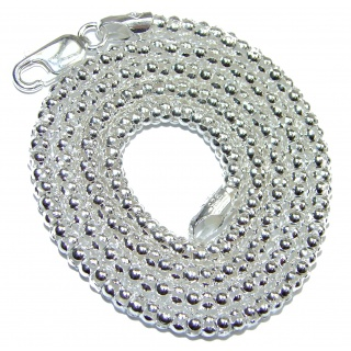 "Coreana style .925 Sterling Silver Chain 18"" long, 4 mm wide"