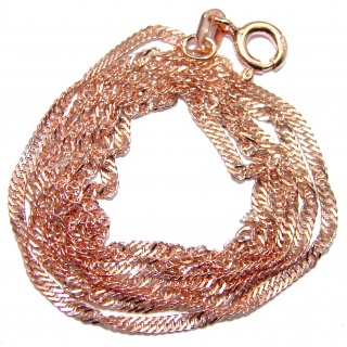 Vintage Design Rose Gold over Sterling Silver Chain 20'' long, 1 mm wide