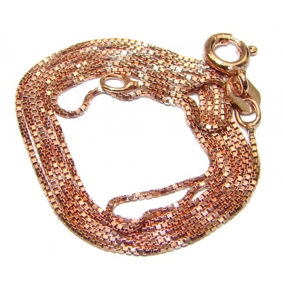Rose Gold OVER Sterling Silver Chain 18'' long, 1 mm wide
