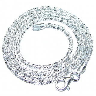 Twisted Rock Sterling Silver Chain 18'' long, 2 mm wide