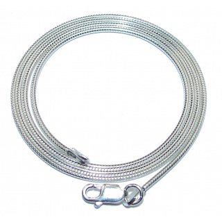 Real Snake Sterling Silver Chain 20'' long, 3 mm wide