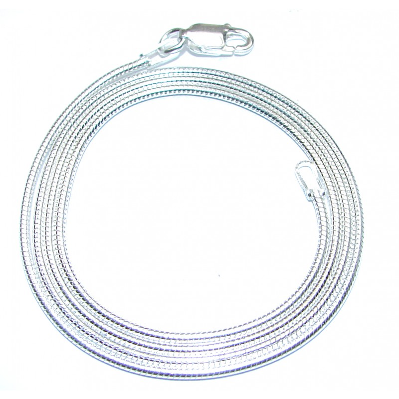 Real Snake Sterling Silver Chain 18'' long, 3 mm wide
