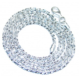 Twisted Rock Sterling Silver Chain 20'' long, 2 mm wide