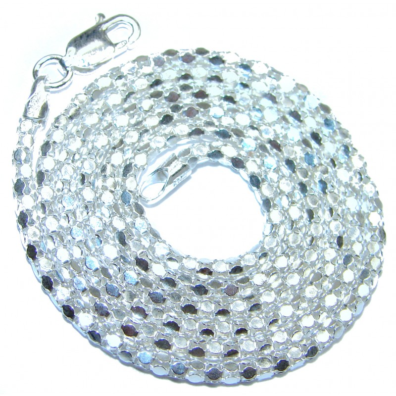 Coreana .925 Sterling Silver Chain 20'' long, 4 mm wide
