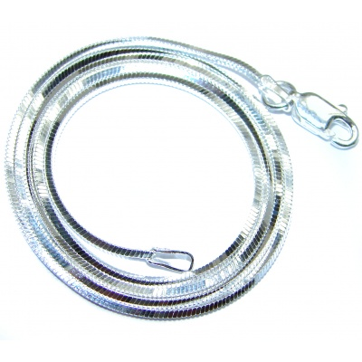 Square Snake Sterling Silver Chain 18'' long, 1 mm wide