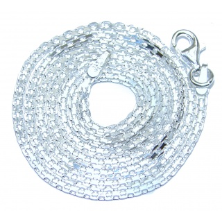 Bismark design Sterling Silver Chain 18'' long, 2 mm wide