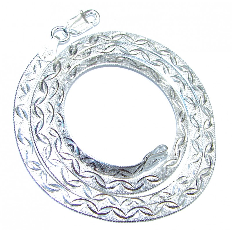 Magic Sterling Silver Chain 16'' long, 5 mm wide
