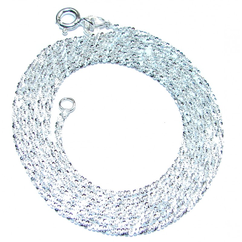 Twisted Rock Sterling Silver Chain 24'' long, 2 mm wide