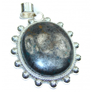 Incredible Jasper .925 Sterling Silver handmade pendant