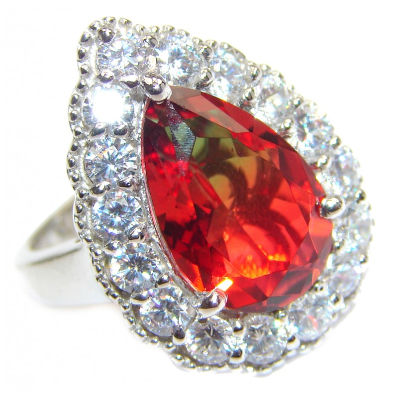Top Quality Magic Tourmaline .925 Sterling Silver handcrafted Ring s. 6 3/4