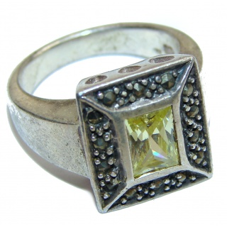 Cubic Zirconia .925 Sterling Silver handmade Ring s. 6
