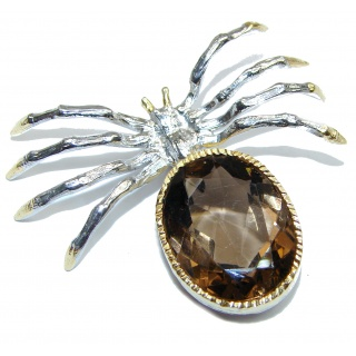 Incredible Spider Fire Labradorite 14k Gold over .925 Sterling Silver handmade Pendant