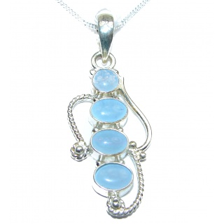 One of the kind Japanese Opal .925 Sterling Silver handmade necklace