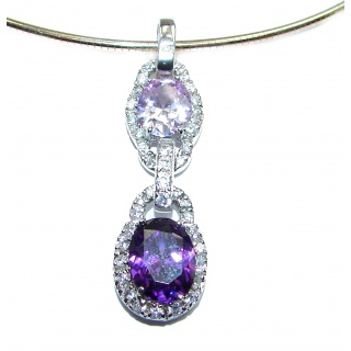 Chunky Beauty Cubic Zirconia .925 Sterling Silver handcrafted necklace