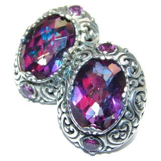 Purple Rain Magic Topaz .925 Sterling Silver handmade earrings