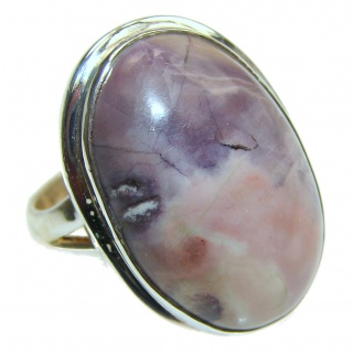 Perfect Tiffany Jasper .925 Sterling Silver handmade Ring s. 8 3/4