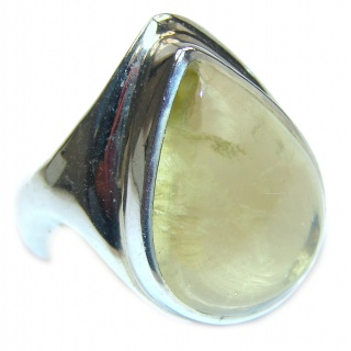 Vintage Style Natural Citrine .925 Sterling Silver handcrafted Ring s. 9