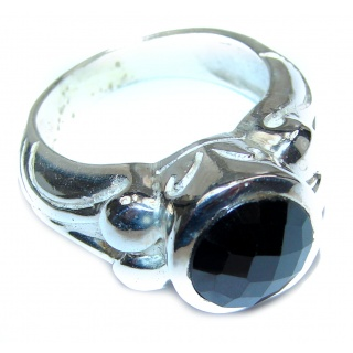Majestic Authentic Onyx .925 Sterling Silver handmade Ring s. 9