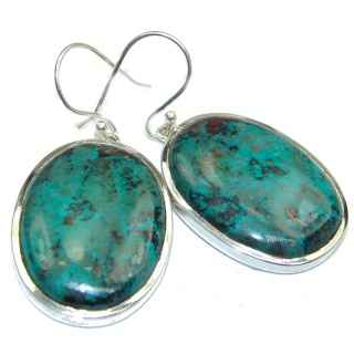 Large Natural Sonora Jasper .925 Sterling Silver handcrafted Earrings