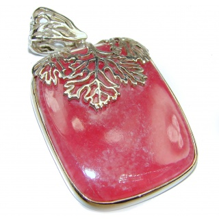 Top Quality Genuine Argentinian Rhodochrosite .925 Sterling Silver handmade Pendant