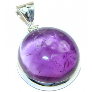 Purple Moon Genuine Amethyst .925 Sterling Silver handcrafted pendant