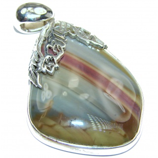 Perfect quality Imperial Jasper .925 Sterling Silver handmade Pendant