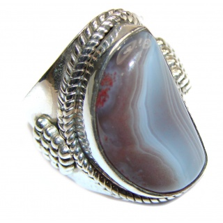Top Quality Dendritic Agate .925 Sterling Silver hancrafted Ring s. 7