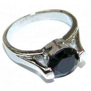 Majestic Authentic Onyx .925 Sterling Silver handmade Ring s. 8 3/4