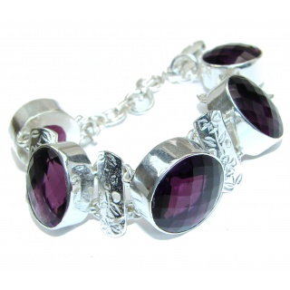 Fancy Amethyst .925 Sterling Silver handcrafted Bracelet