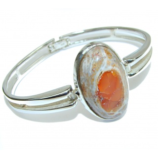 Top Quality Mexican Opal .925 Sterling Silver handmade Bracelet