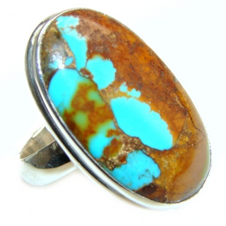 Carico Lake Turquoise .925 Sterling Silver handmade Ring size 8