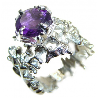Purple Reef Amethyst .925 Sterling Silver Ring size 5