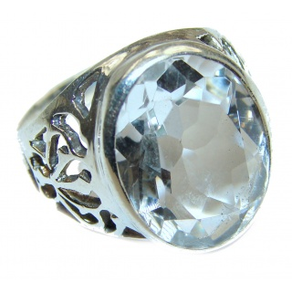 White Topaz .925 Sterling Silver handmade Ring s. 9