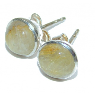 Perfect Golden Rutilated .925 Sterling Silver handmade earrings