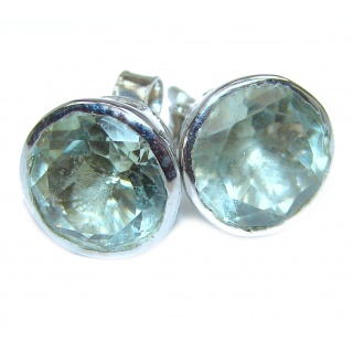Incredible Green Amethyst .925 Sterling Silver earrings