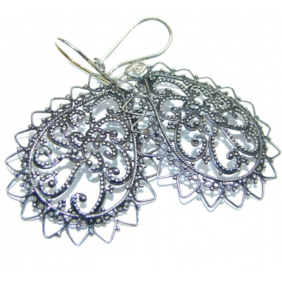 Bali Design .925 Sterling Silver handcrafted Earrings