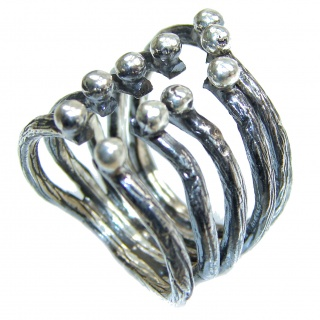 Bali made .925 Sterling Silver handcrafted Ring s. 6 1/2