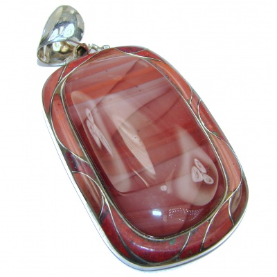 Great quality genuine Imperial Jasper .925 Sterling Silver handmade Pendant