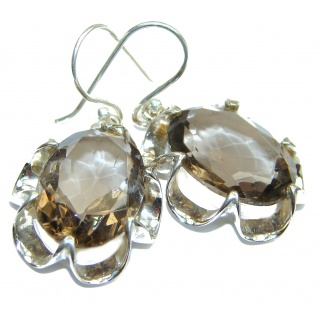 Gorgeous Smoky Quartz .925 Sterling Silver earrings