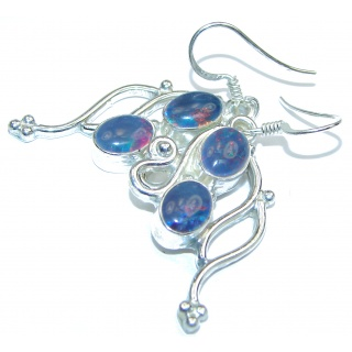 Classy Design Doublet Opal .925 Sterling Silver handmade earrings