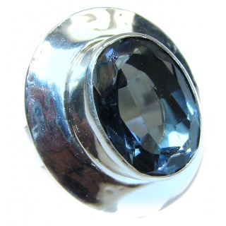 Genuine Quartz .925 Sterling Silver handcrafted ring size 8 1/2
