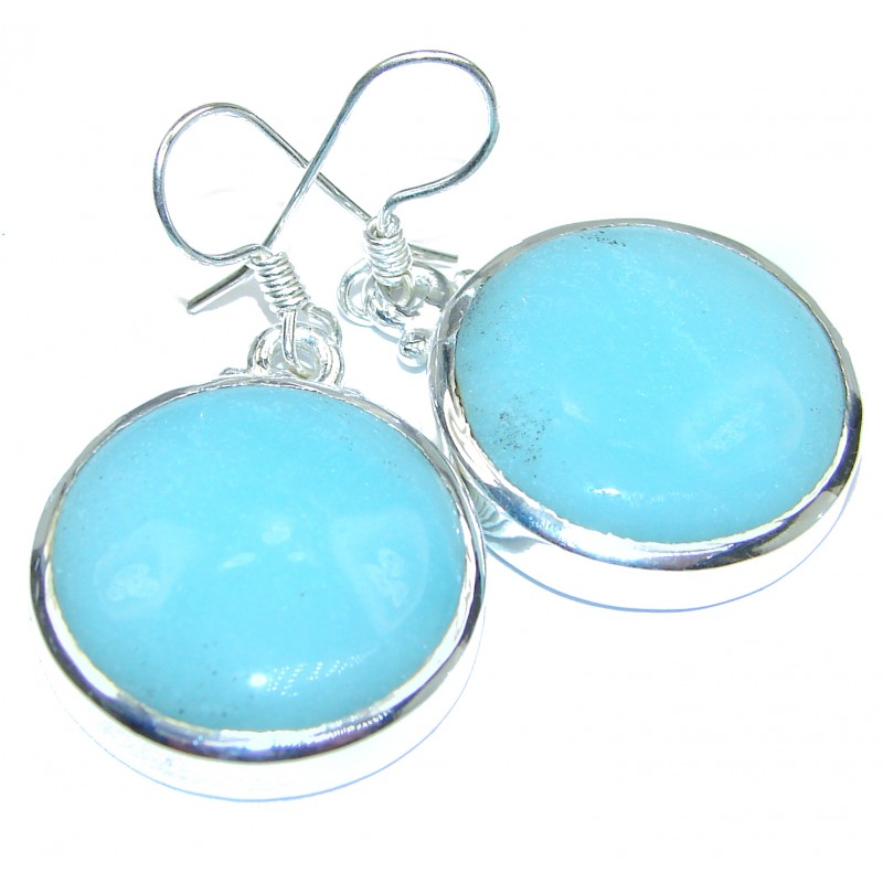Blue Carioca Melody Angelite .925 Silver earrings