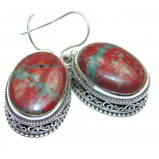 Natural Sonora Jasper Sterling Silver handcrafted Earrings