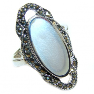 Blister Pearl .925 Sterling Silver handmade ring size 6
