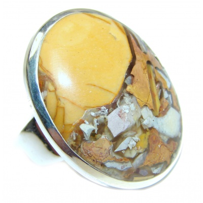 Exceptional quality Australian Bracciated Mookaite. 925 Sterling Silver Ring size 8 3/4