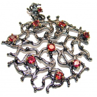 Royal quality genuine Garnet .925 Sterling Silver handcrafted Pendant