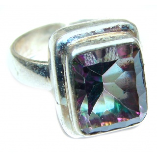 Top Quality Magic Topaz .925 Sterling Silver handcrafted Ring s. 7 1/4